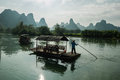 Mingshi scenery picturesque mountain water around the ring known as the small guilin said Stock Images