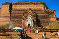 Mingun pagoda mingun in myanmar burmar shop and tourist at Stock Photos