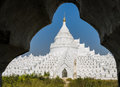 Mingun white pagoda myanmar of hsinbyume myatheindan in Royalty Free Stock Photography