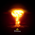 Mini atom bomb vector illustration nuke Stock Image