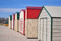 Mini barns in a row waiting to be sold Royalty Free Stock Photo