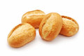 Mini bread on white background Stock Image