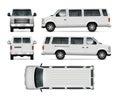 Mini Bus Vector Template