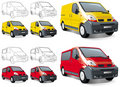Mini buss, van, cargo and passengers Royalty Free Stock Image