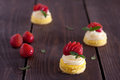 Mini cake strawberry with cream Royalty Free Stock Photos