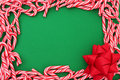 Mini Candy Cane Border Royalty Free Stock Image