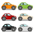 Mini car with big wheels six colors different Stock Image