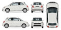 Mini car vector illustration. Royalty Free Stock Photo