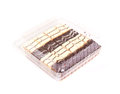 Mini chocolate cakes box Stock Image