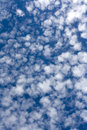 Mini clouds formation of altocumulus Royalty Free Stock Image