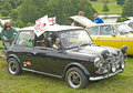Mini Cooper Classic car at Ripley Castle. Royalty Free Stock Photo
