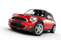 Mini cooper red isolated on white Stock Photography