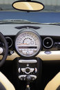 Mini cooper s Car interior Royalty Free Stock Photo