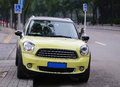 Mini countryman car in the parking area Stock Photography