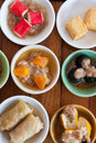 Mini dim sum set for breakfast at restaurant in krabi province on south of thailand Royalty Free Stock Photography