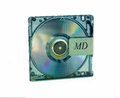 Mini disc md isolated on white background Royalty Free Stock Photography