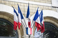 Mini French flags Royalty Free Stock Images
