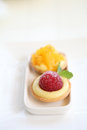Mini fruit tart in close up Stock Photography