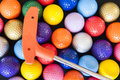 Mini Golf Balls and Club Royalty Free Stock Photo