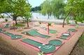 Mini golf club Royalty Free Stock Photo