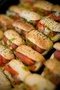 Mini Hotdogs Stock Foto's
