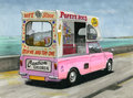 Mini ice cream van Royaltyfri Foto