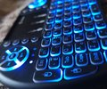 Mini keyboard remote Control glowing Blue