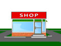 Mini market shop store retail shopping face a facade trade Stock Photography