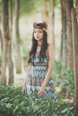 Mini native american indigenous concept at royal park rajapruek thailand Royalty Free Stock Photo