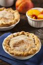 Mini peach pie dessert Fotografia Stock