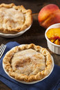 Mini peach pie dessert Arkivbilder
