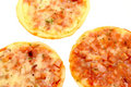 Mini pizzas Photo libre de droits
