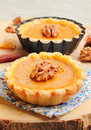 Mini pumpkin tart Royalty Free Stock Photography