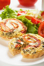 Mini Quiche Lorraine Stock Photo