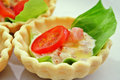 Mini quiche of tuna and vegetables. Stock Image