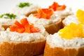 Mini sandwiches Stock Images