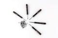 Mini screwdriver for mini screw in work Royalty Free Stock Photos