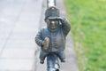 Mini sculpture of soldier Svejk in Uzhgorod