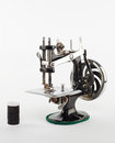 Mini sewing machine Royalty Free Stock Images