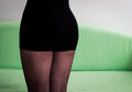 Mini skirt and fishnet Royalty Free Stock Photo