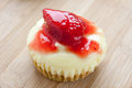Mini strawberry cheesecake Images libres de droits
