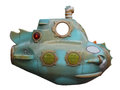 Mini submarine isolated on white background Stock Image