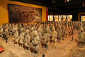 Mini terracotta army replica of famous ancient chinese china pavilion epcot center florida Stock Photos