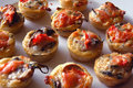 Mini Tomato and mushroom tarts Royalty Free Stock Photo