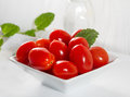 Mini tomatoes on a platter Royalty Free Stock Photo
