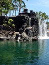 Mini Waterfall in Hawaii Royalty Free Stock Photo