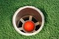 Miniatura golfowa dziurę. Zdjęcie Stock