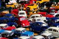 Miniature cars jam Stock Images