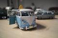 Miniature of classic camper van vw transporter t german volkswagen Royalty Free Stock Photography
