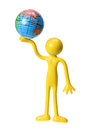Miniature Figure with Globe Stock Photos